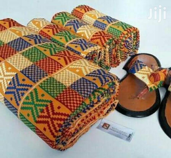 Beautiful Yellow Engagement Kente Cloth