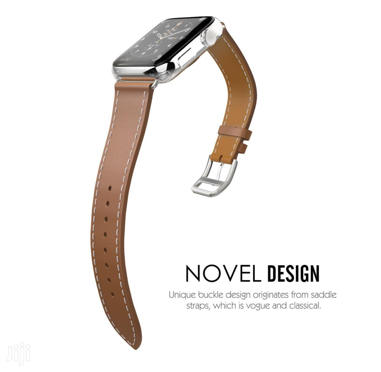 Tosu Leather Strap/Band For Apple Watch Series 1 To 6 | Smart Watches & Trackers for sale in Accra Metropolitan, Greater Accra, Ghana