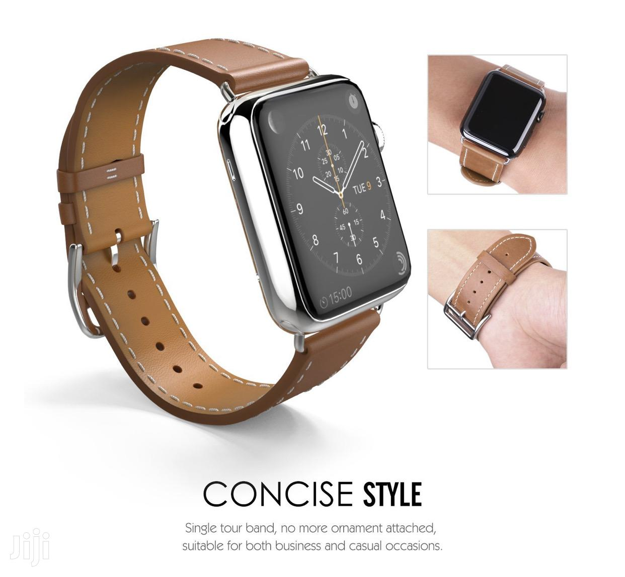 Tosu Leather Strap/Band For Apple Watch Series 1 To 6