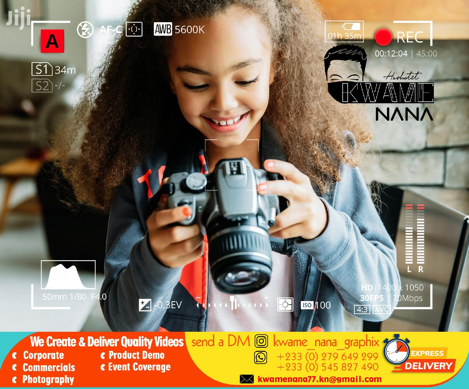 Graphic Design Services | Photography & Video Services for sale in Adenta Municipal, Greater Accra, Ghana