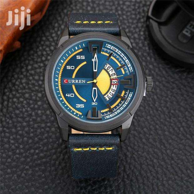Curren 8298 Male Quartz Watch Calendar Stainless Steel Watch