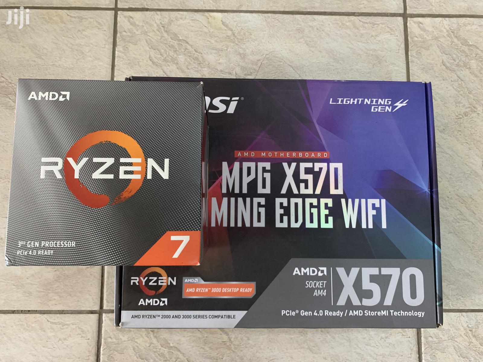 Amd Ryzen 3800x Cpu W/ Msi MPG X570 Motherboard | Computer Hardware for sale in South Kaneshie, Greater Accra, Ghana