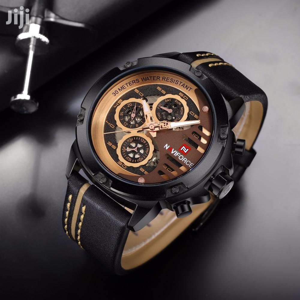 Archive: NAVIFORCE NF9110 Men's Quartz Watch With 3 Sub-Dials
