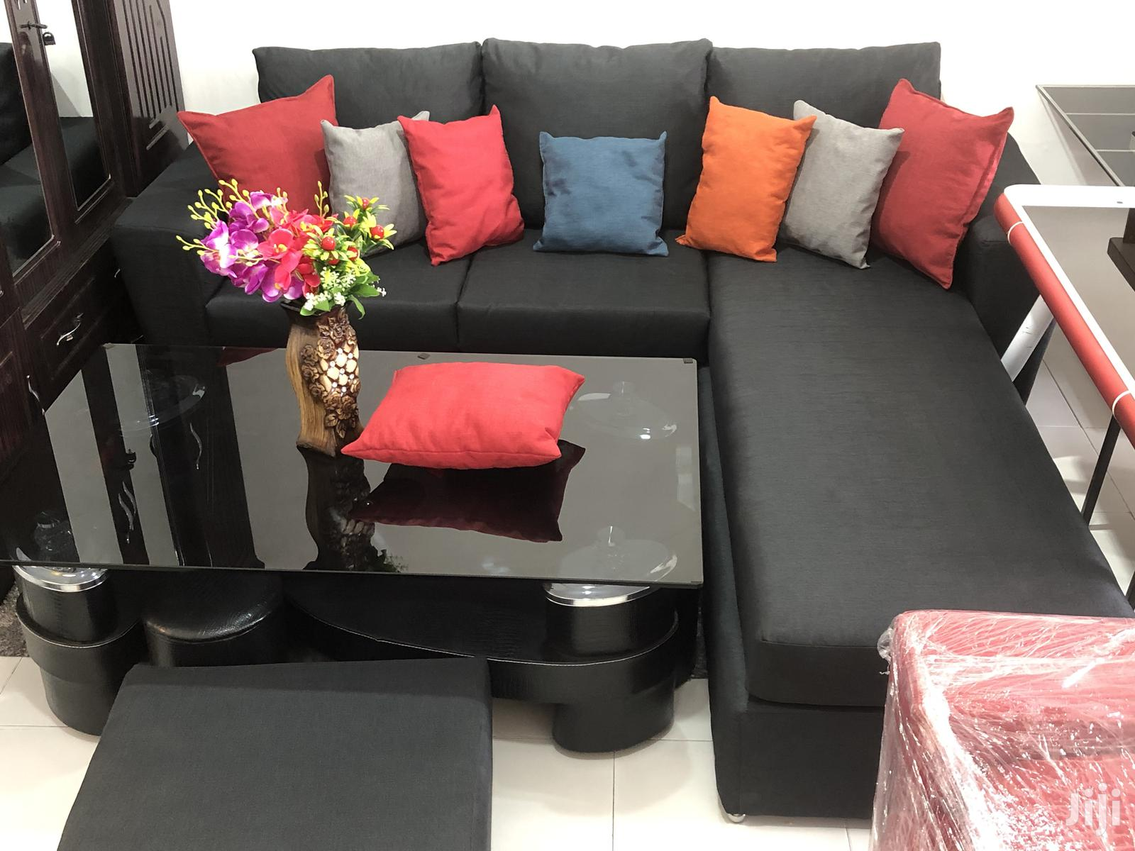 L Shape Leather Sofa | Furniture for sale in Accra Metropolitan, Greater Accra, Ghana