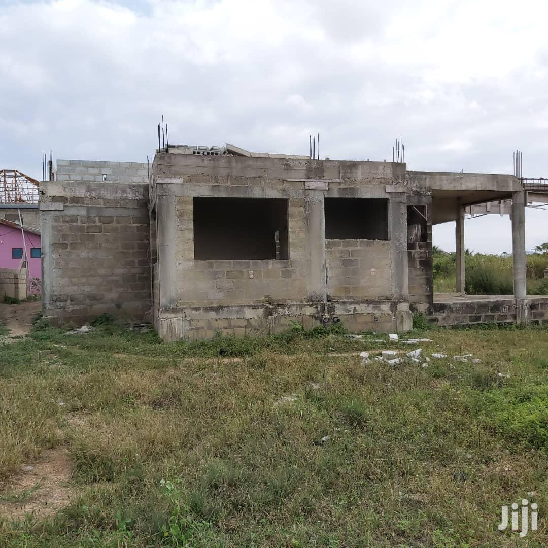 4 Bedroom Uncompleted House On One And Half Plot At Kasoa