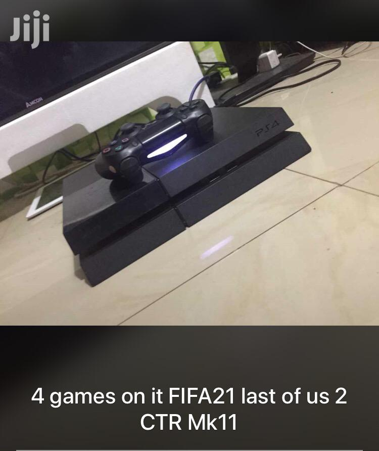 PS4 Fat 4 Games on It FIFA21 GTA5 Mk11 NBA20   Video Game Consoles for sale in Dansoman, Greater Accra, Ghana