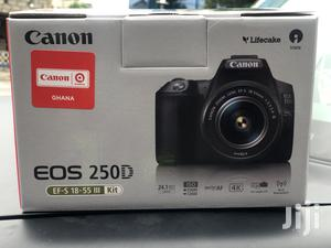 CANON EOS 250D DSLR Camera With Ef-S 18-55 Mm F/3.5-5.6 Iii | Photo & Video Cameras for sale in Greater Accra, Adabraka