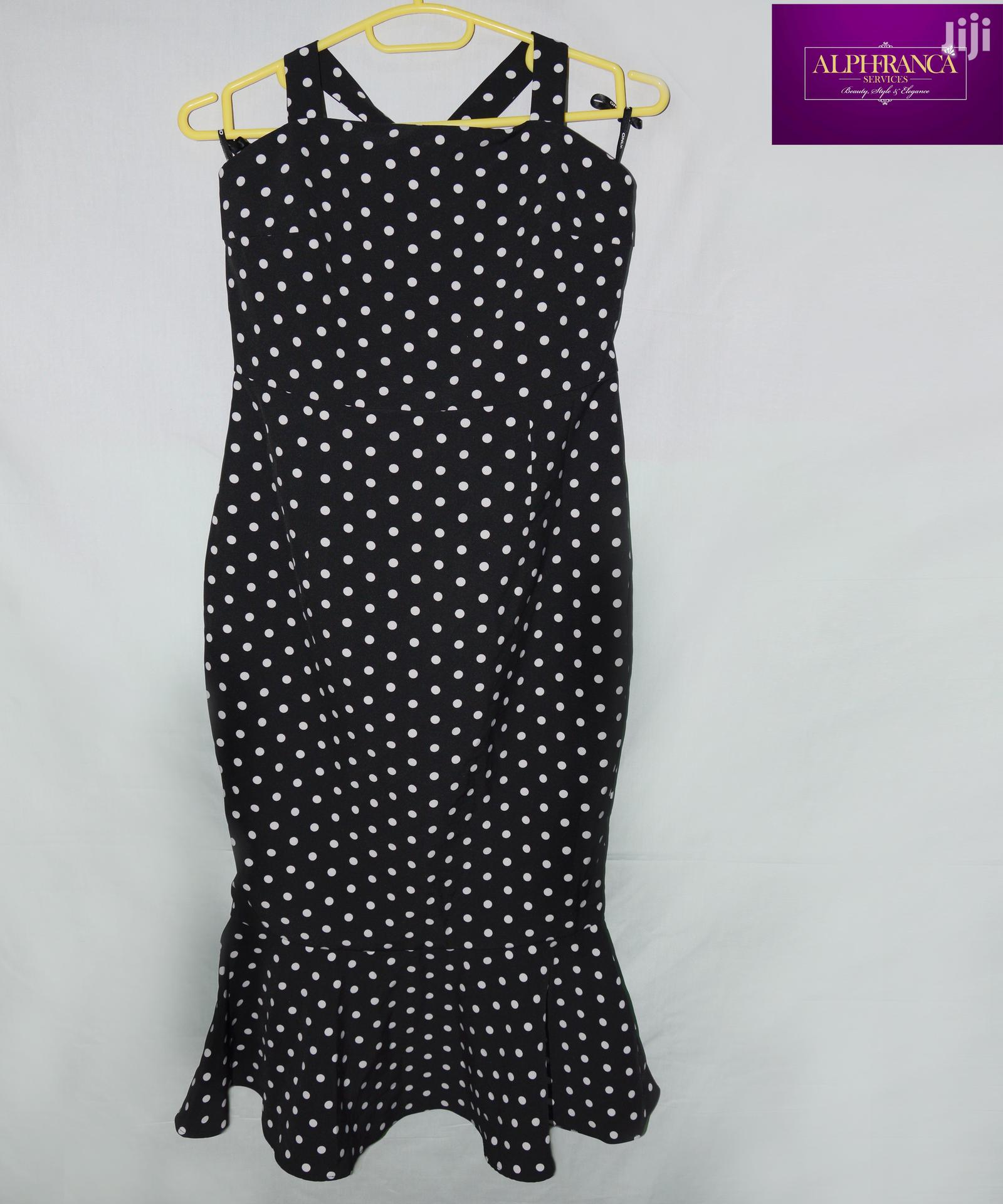 Black and White Spotted Dress | Clothing for sale in Ga West Municipal, Greater Accra, Ghana