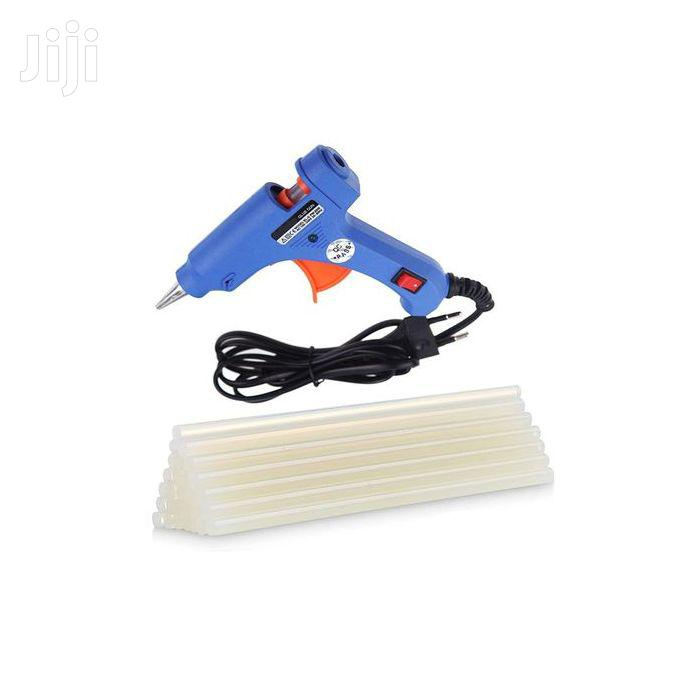 Mini Hot Melt Glue Gun + Free 50pcs Glue Sticks - 20W Blue