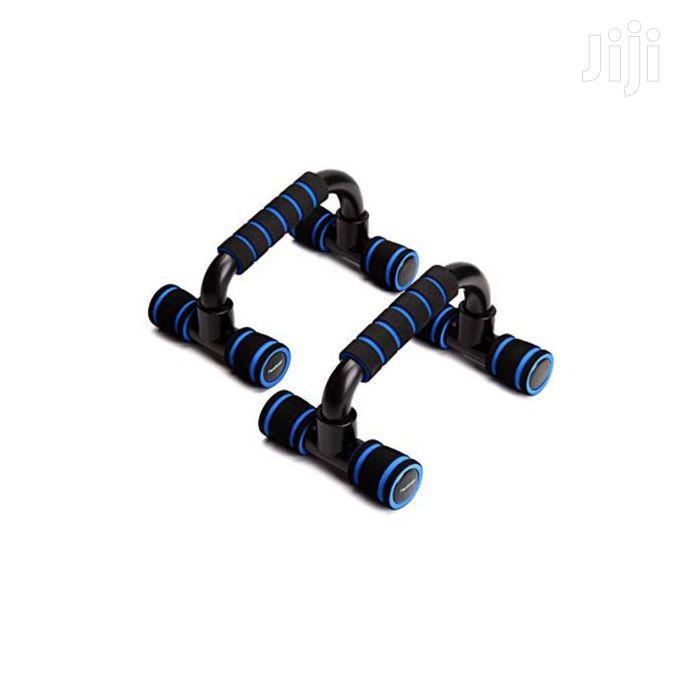 Push Up Bars Set - Black/Blue