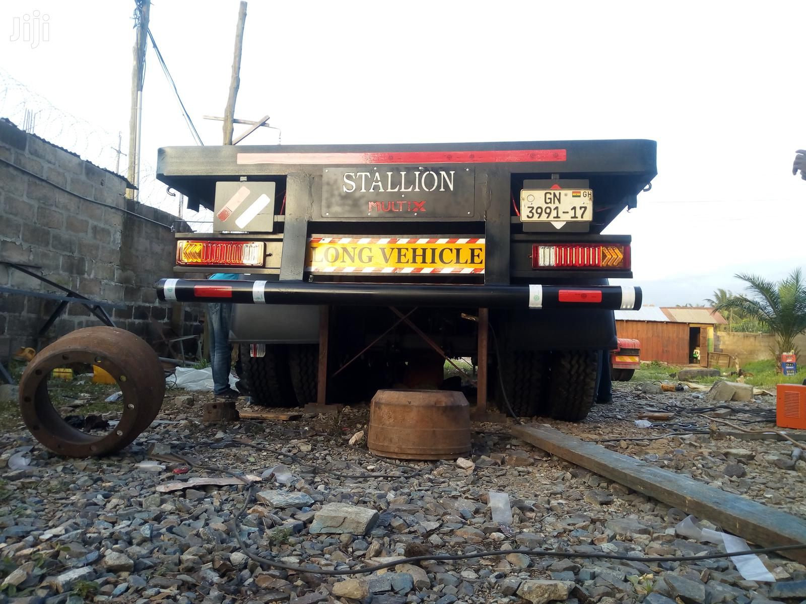"4 Axles 45"" Container Flatbed Semi Trailer"