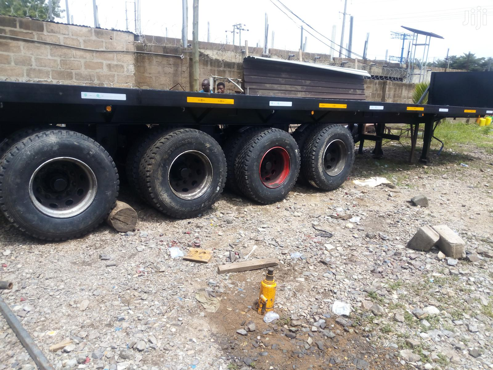 "4 Axles 45"" Container Flatbed Semi Trailer 