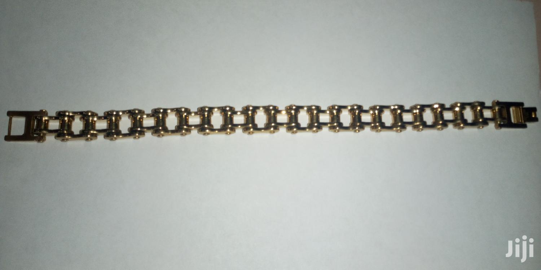 Archive: New Titanium Steel Men's Bracelet Motorcycle Chain ES781