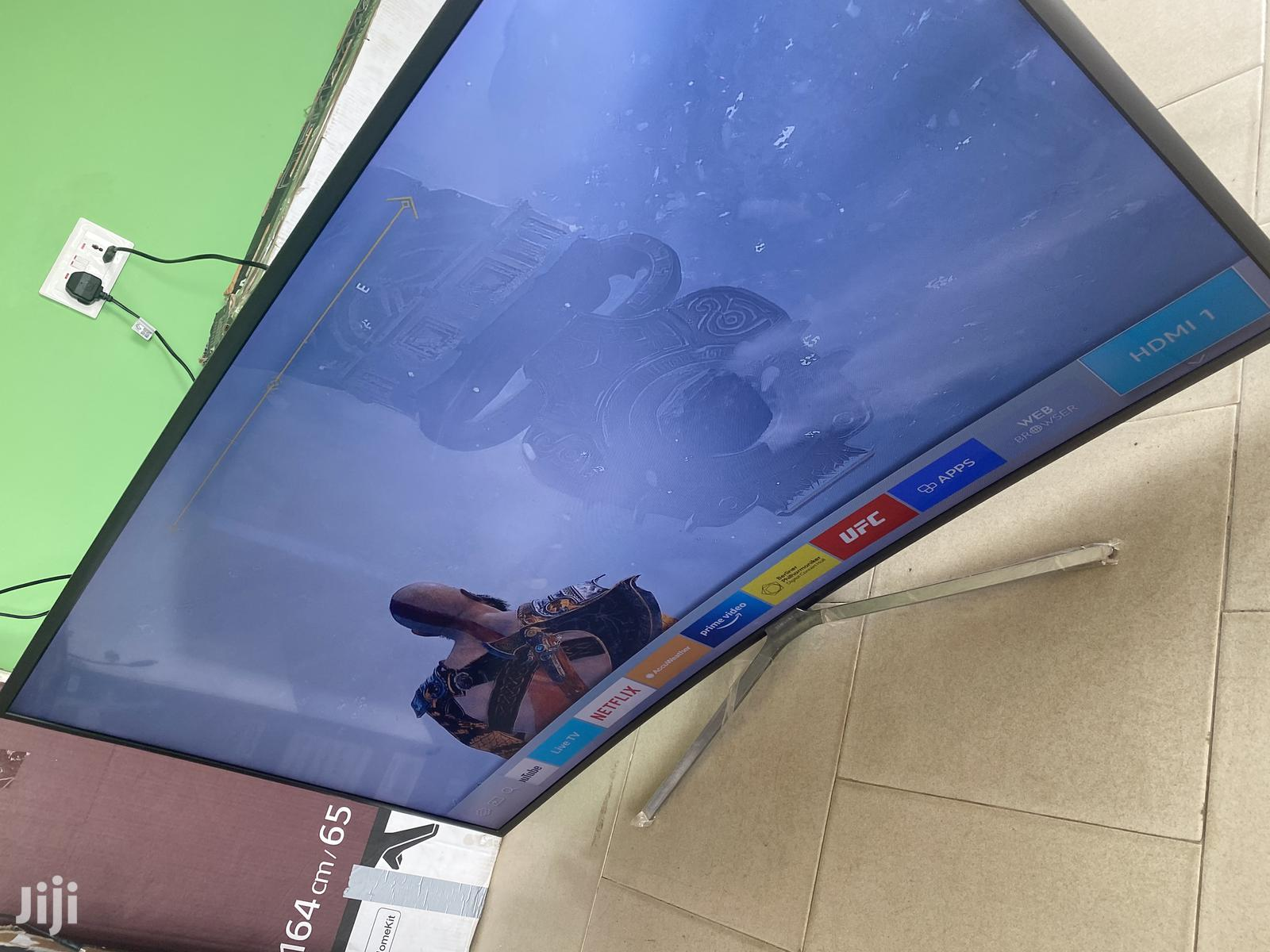 55 Inches Smart Samsung Curved Tv For Sale   TV & DVD Equipment for sale in Achimota, Greater Accra, Ghana