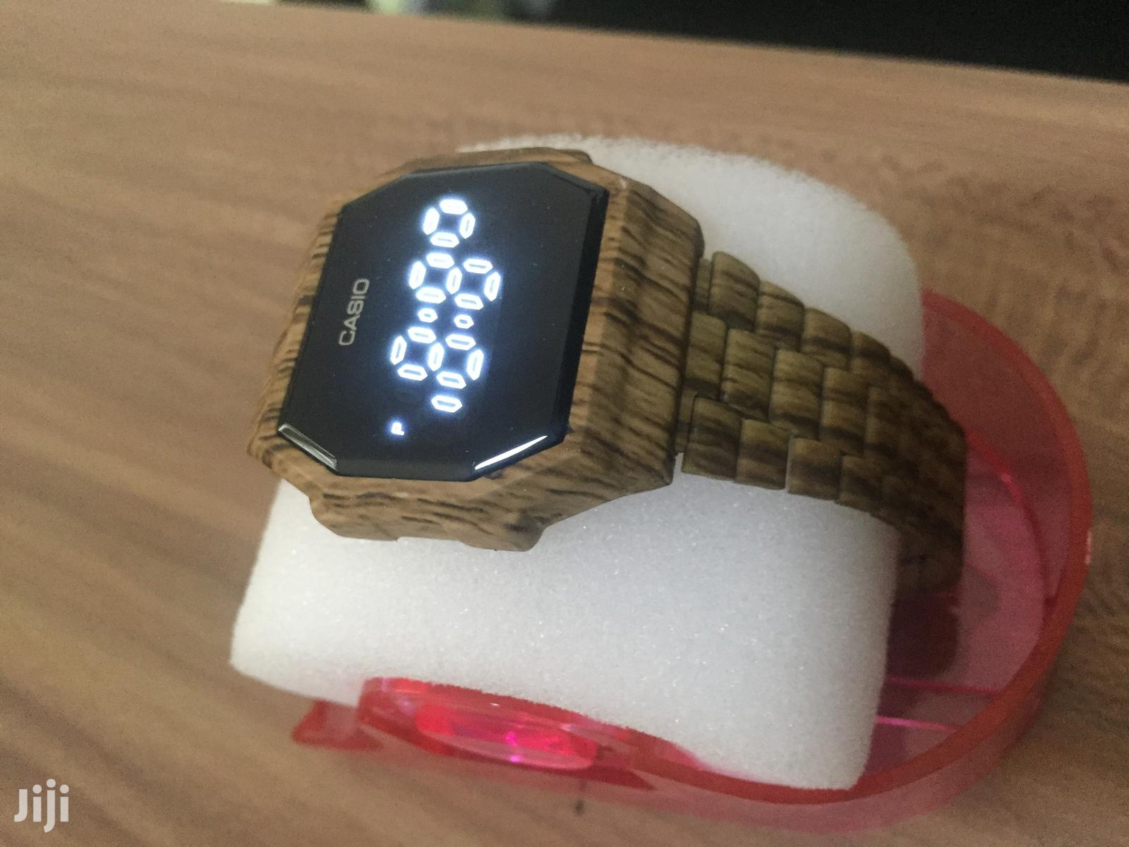 Casio Wooden LED Touch Watch | Watches for sale in East Legon, Greater Accra, Ghana