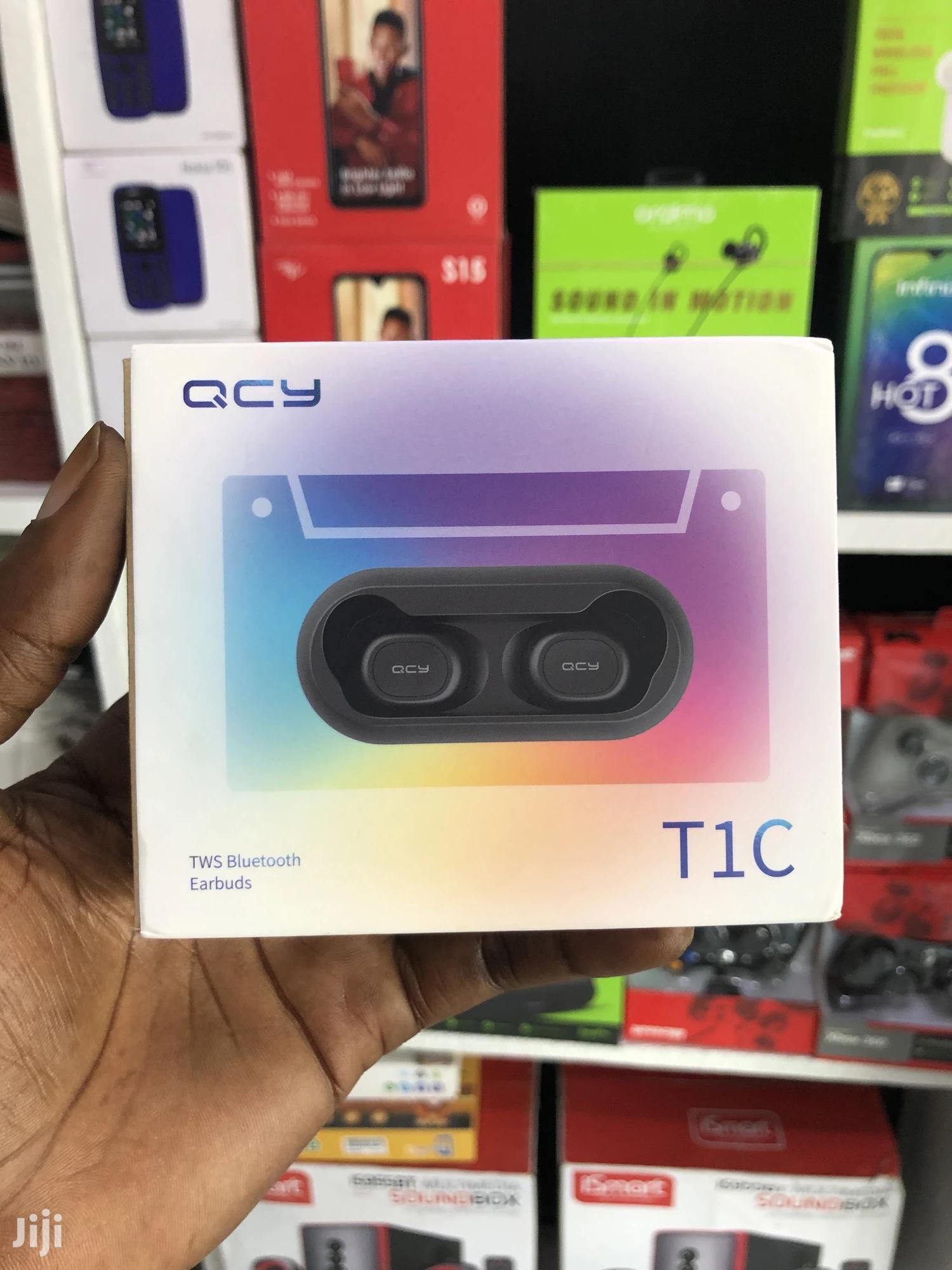 QCY T1C True Wireless Bluetooth Deep Bass Earbuds