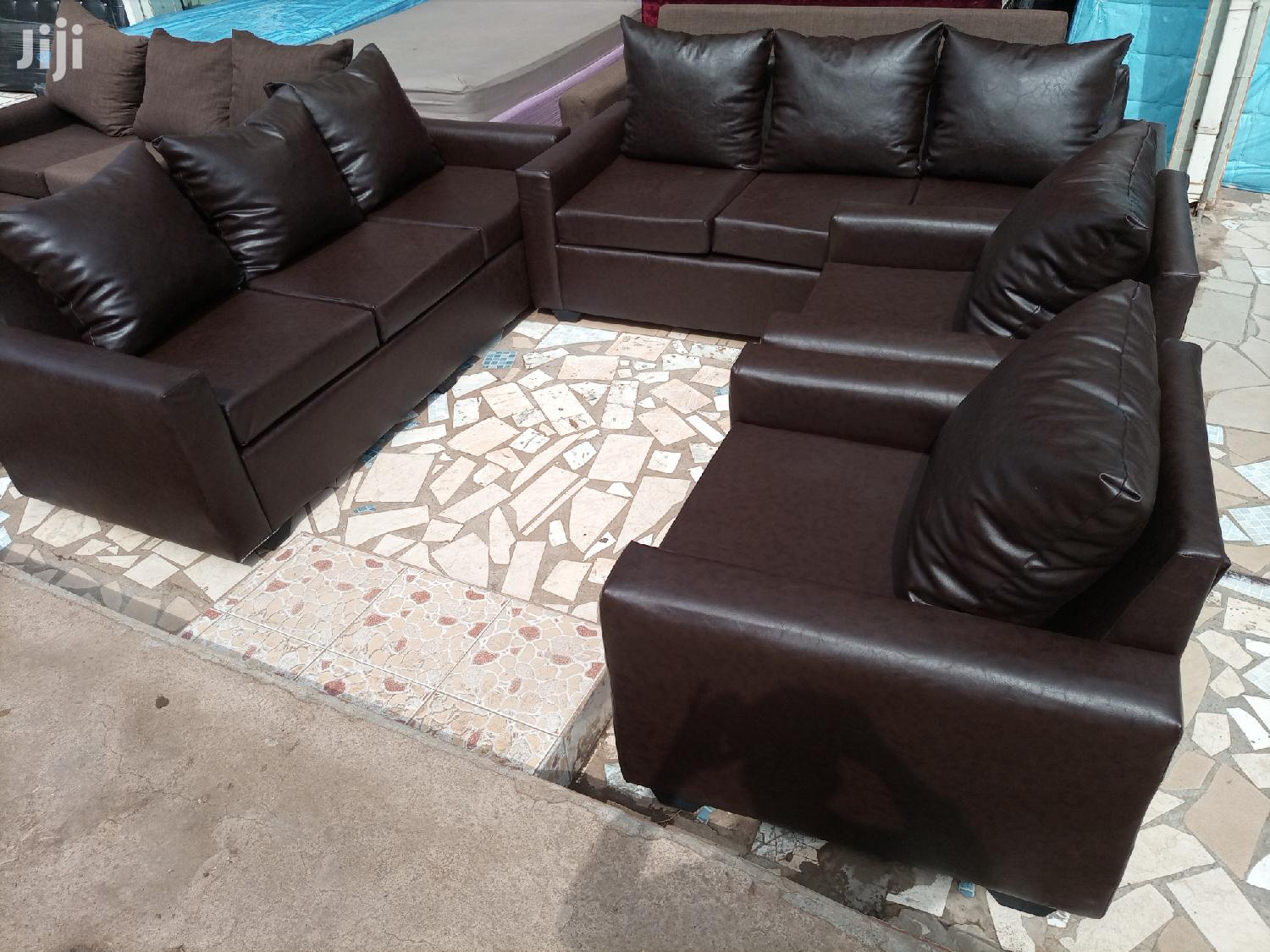Quality Leather Sofa Set Free Delivery | Furniture for sale in Tesano, Greater Accra, Ghana