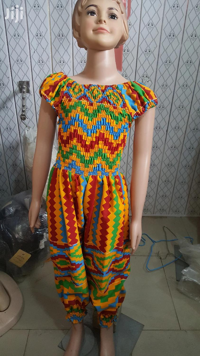 Girl Ankara Jumpsuit | Children's Clothing for sale in Accra Metropolitan, Greater Accra, Ghana