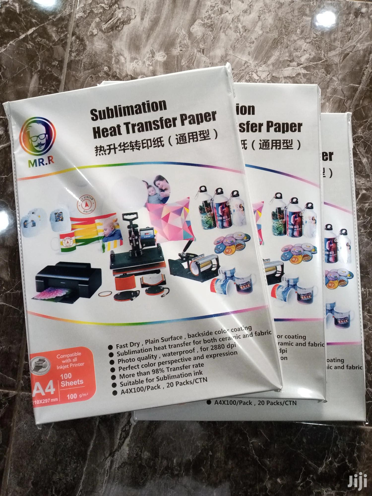 Archive: Sublimation Paper Heat Transfer Paper A4