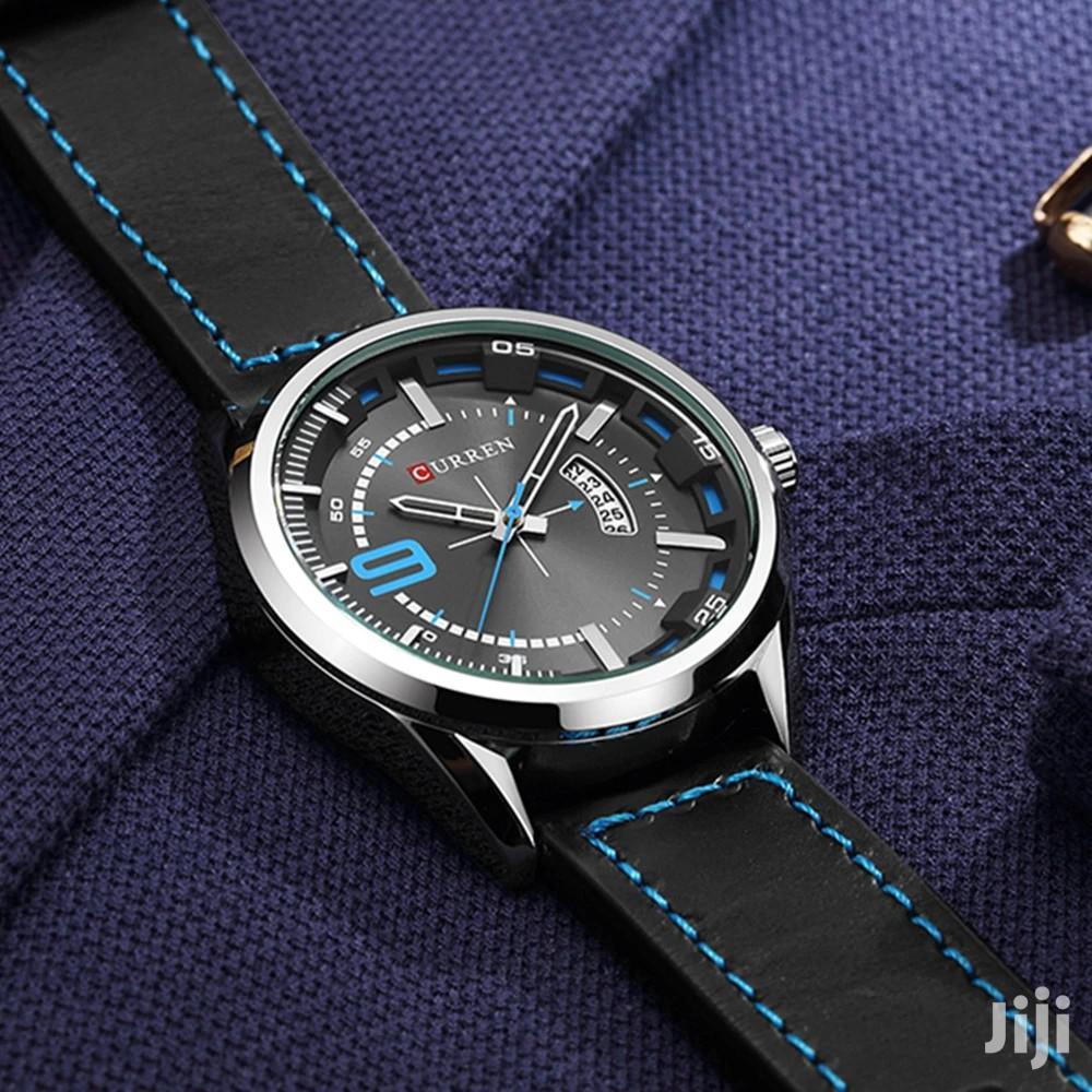 Archive: CURREN 8295 Men Quartz Waterproof Leather Strap Watch - Blue
