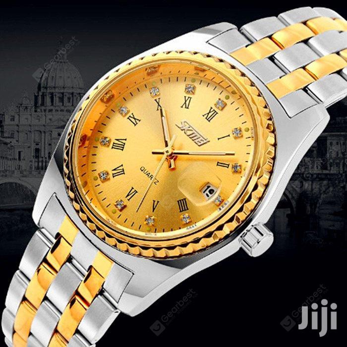 Archive: Skmei 9098 Men Japan Quartz Watch - Gold