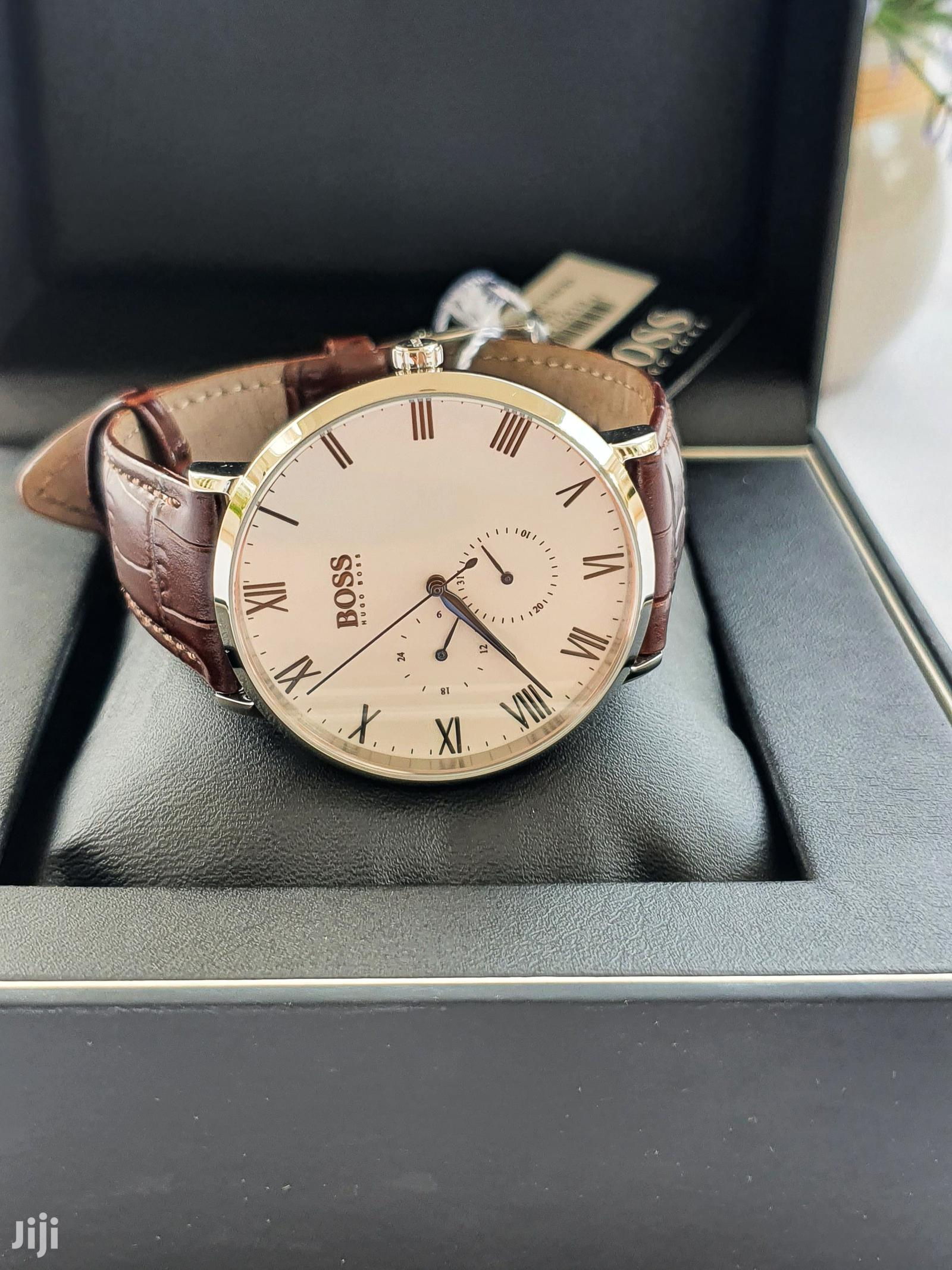 Hugo Boss Leather Watch | Watches for sale in Accra Metropolitan, Greater Accra, Ghana