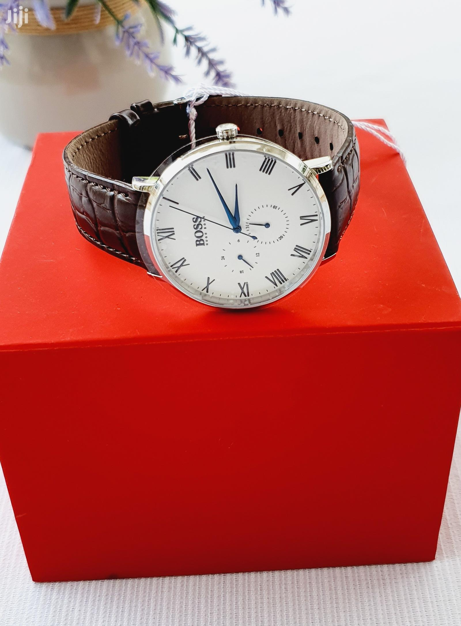 Hugo Boss Brown Leather Watch | Watches for sale in Accra Metropolitan, Greater Accra, Ghana
