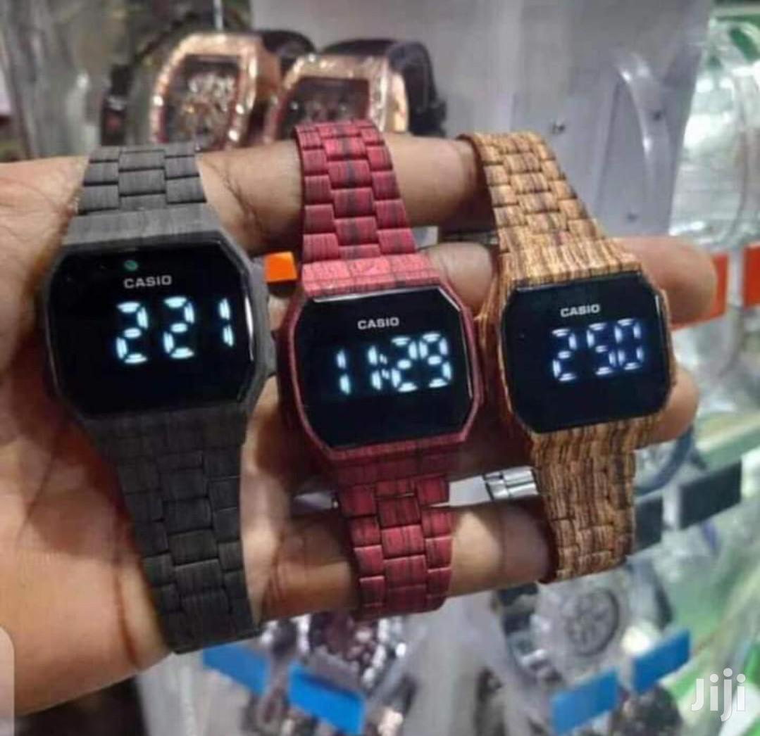 Casio Digital Touch Watch(Wooden) FREE Delivery