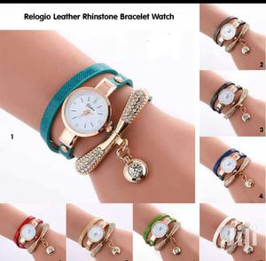 Relogio Leather Rinstone Bracelet Watch | Watches for sale in Greater Accra, Achimota
