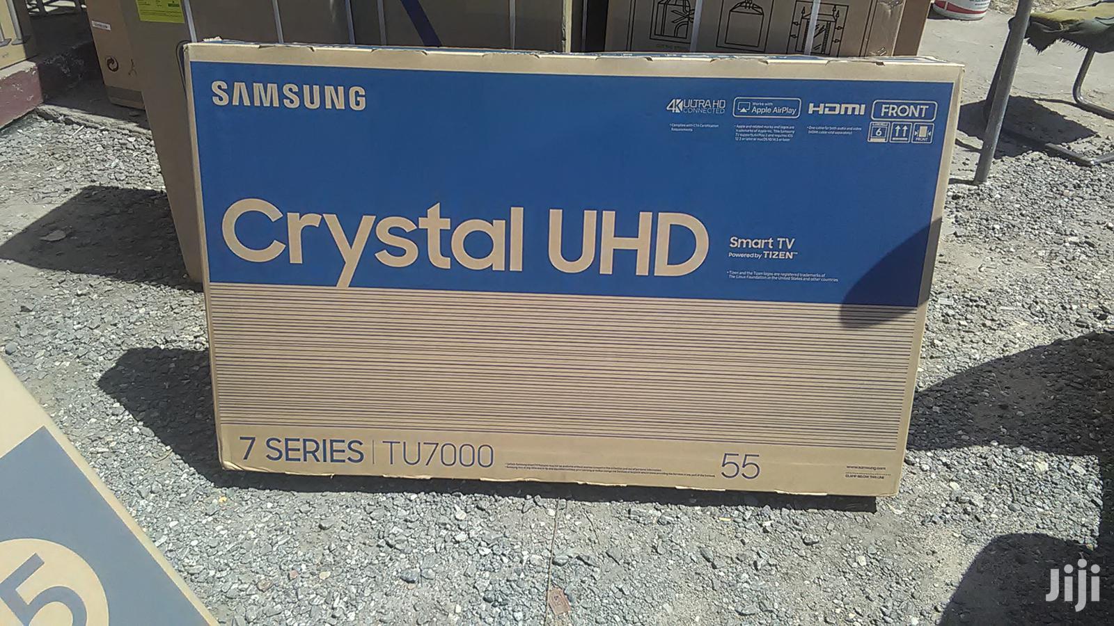 Samsung 55~Inch~TU7000 Smart Ultra HD TV - Carbon Silver