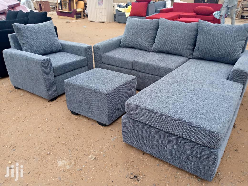Ash Colour L- Shaped Sofa Chair