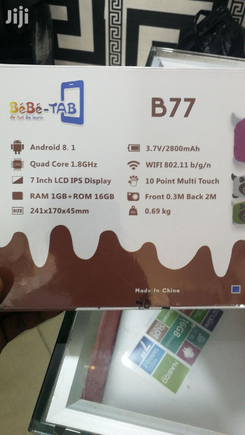 Bebe-Tab B 77 7inches Kids Educational Tablets | Toys for sale in Adabraka, Greater Accra, Ghana