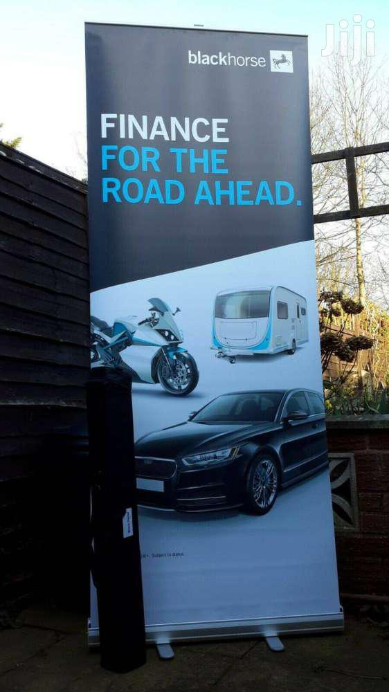 Roller Banner - Pop/Roll/Pull Up Display Stand 200cmh/80cmw