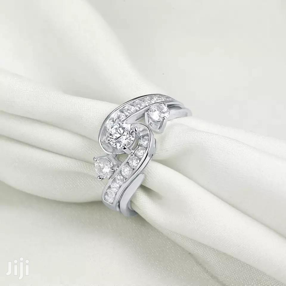 Quality 2 Pieces 925 Sterling Silver Wedding Ring