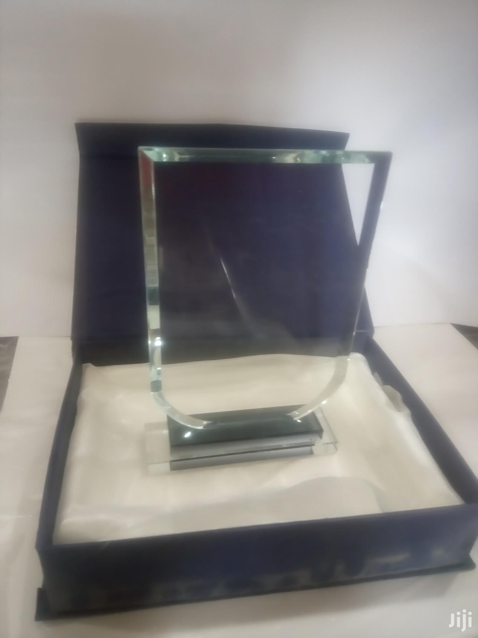 Crystal Glass Trophy Award Plaque | Arts & Crafts for sale in Accra new Town, Greater Accra, Ghana