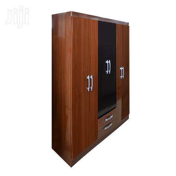 Wooden Wardrobe 6 Doors 2 Drawer