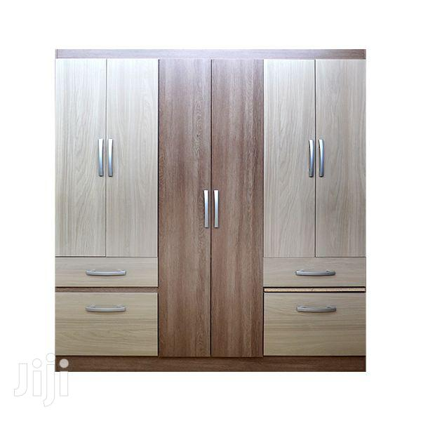 Wooden Wardrobe 8 Doors 2 Drawers