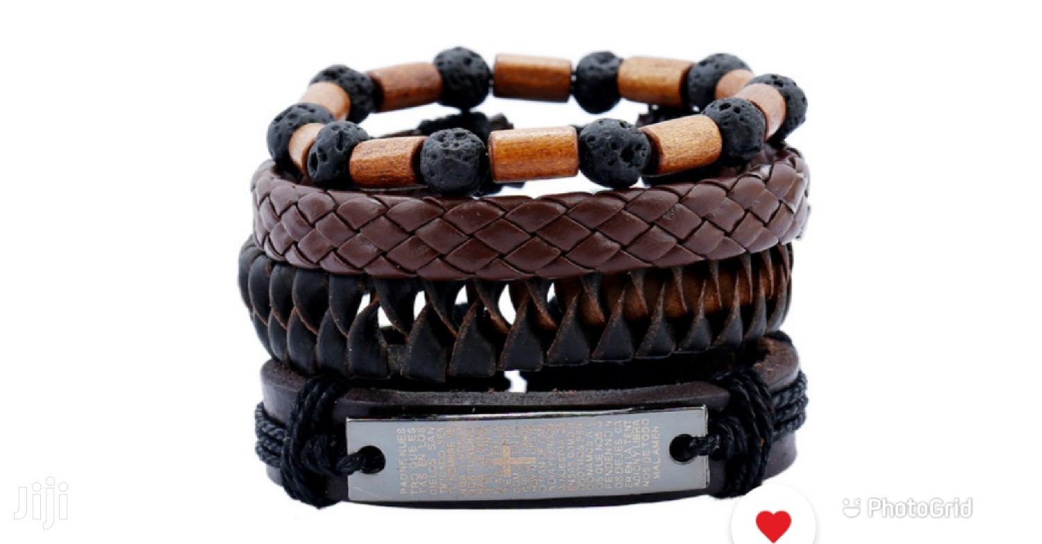 Volcanic Stone Woden Beads Bracelet | Jewelry for sale in Ga West Municipal, Greater Accra, Ghana