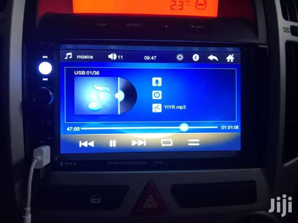 Universal Car DVD Player With Reverse Cam | Vehicle Parts & Accessories for sale in Dansoman, Greater Accra, Ghana