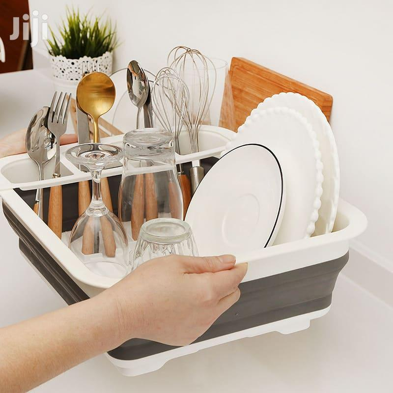 Foldable Dish Rack With Drainer