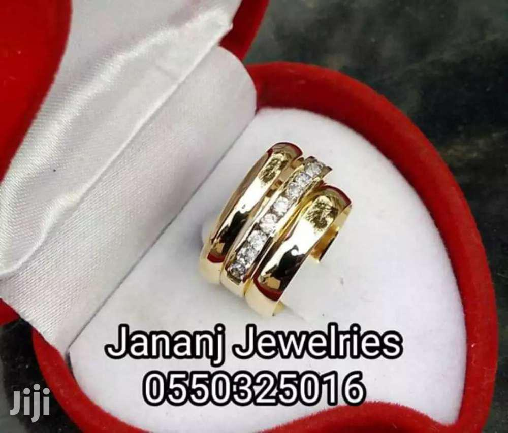 Wedding Ring 3 Set Brass