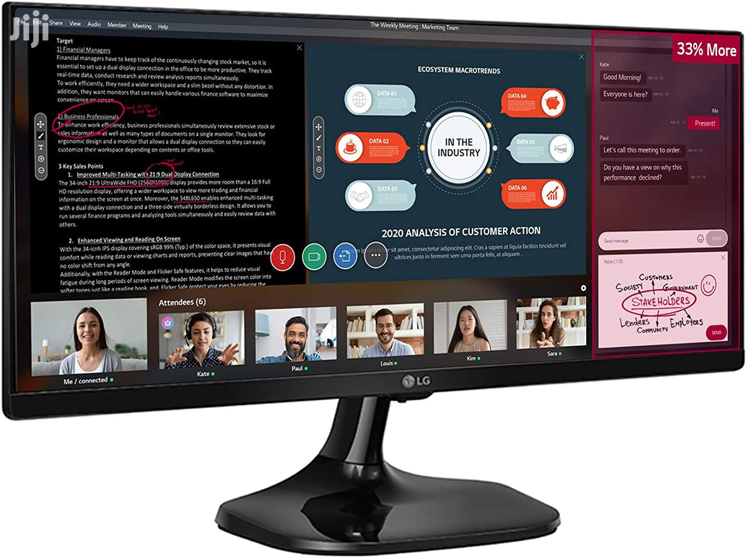 Lg 25 Inches Ultra Wide | Computer Monitors for sale in Adenta Municipal, Greater Accra, Ghana