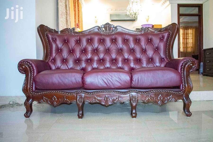 Beautiful Leather Sofa Set