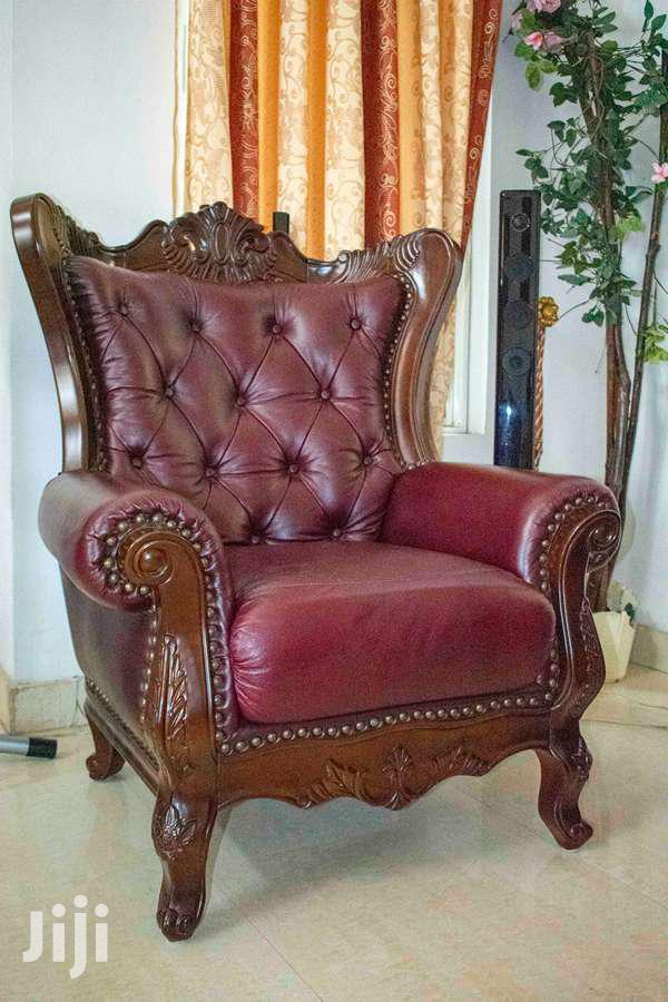 Beautiful Leather Sofa Set | Furniture for sale in Tema Metropolitan, Greater Accra, Ghana