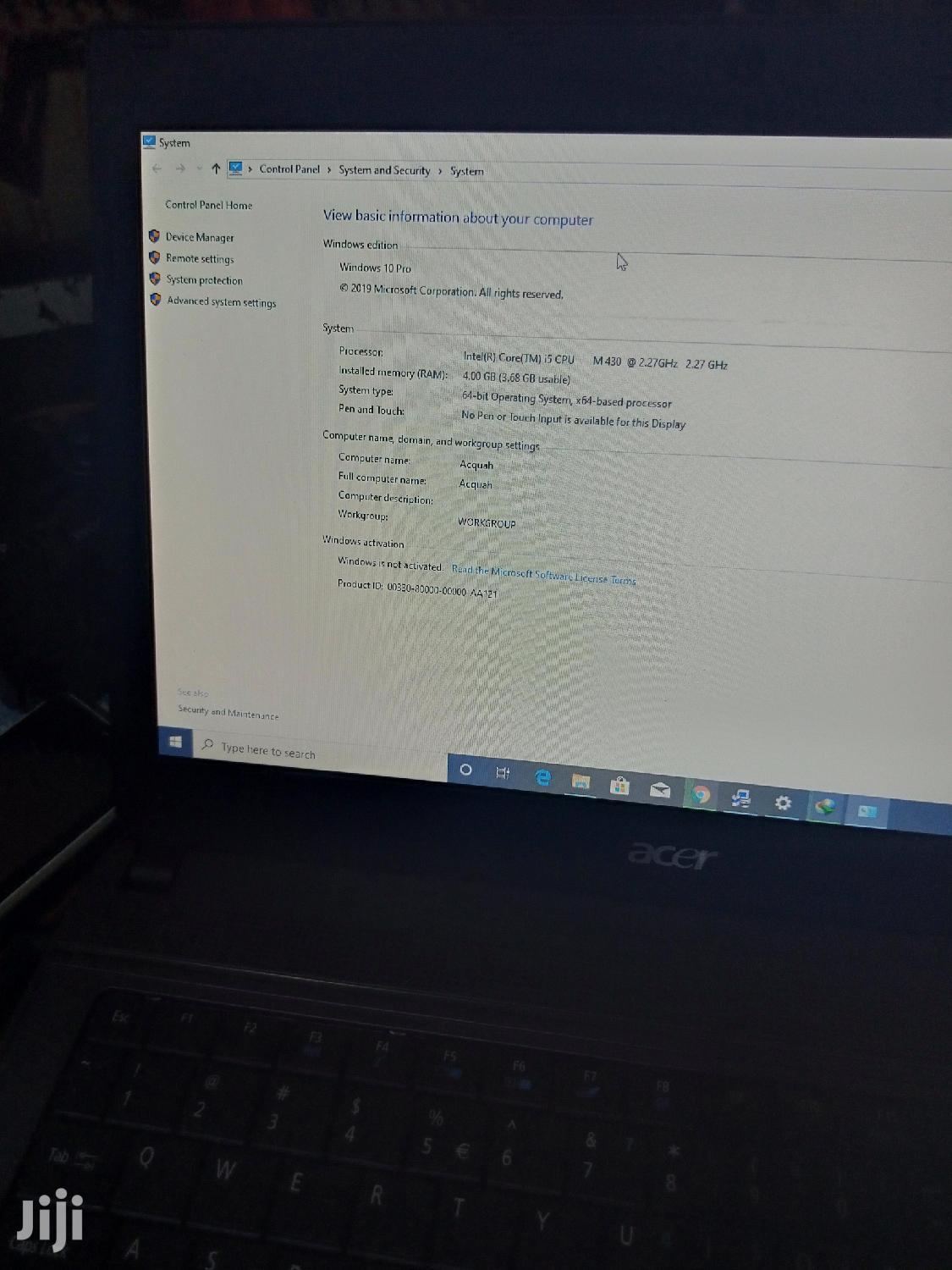 New Laptop Acer 4GB Intel Core I5 HDD 500GB