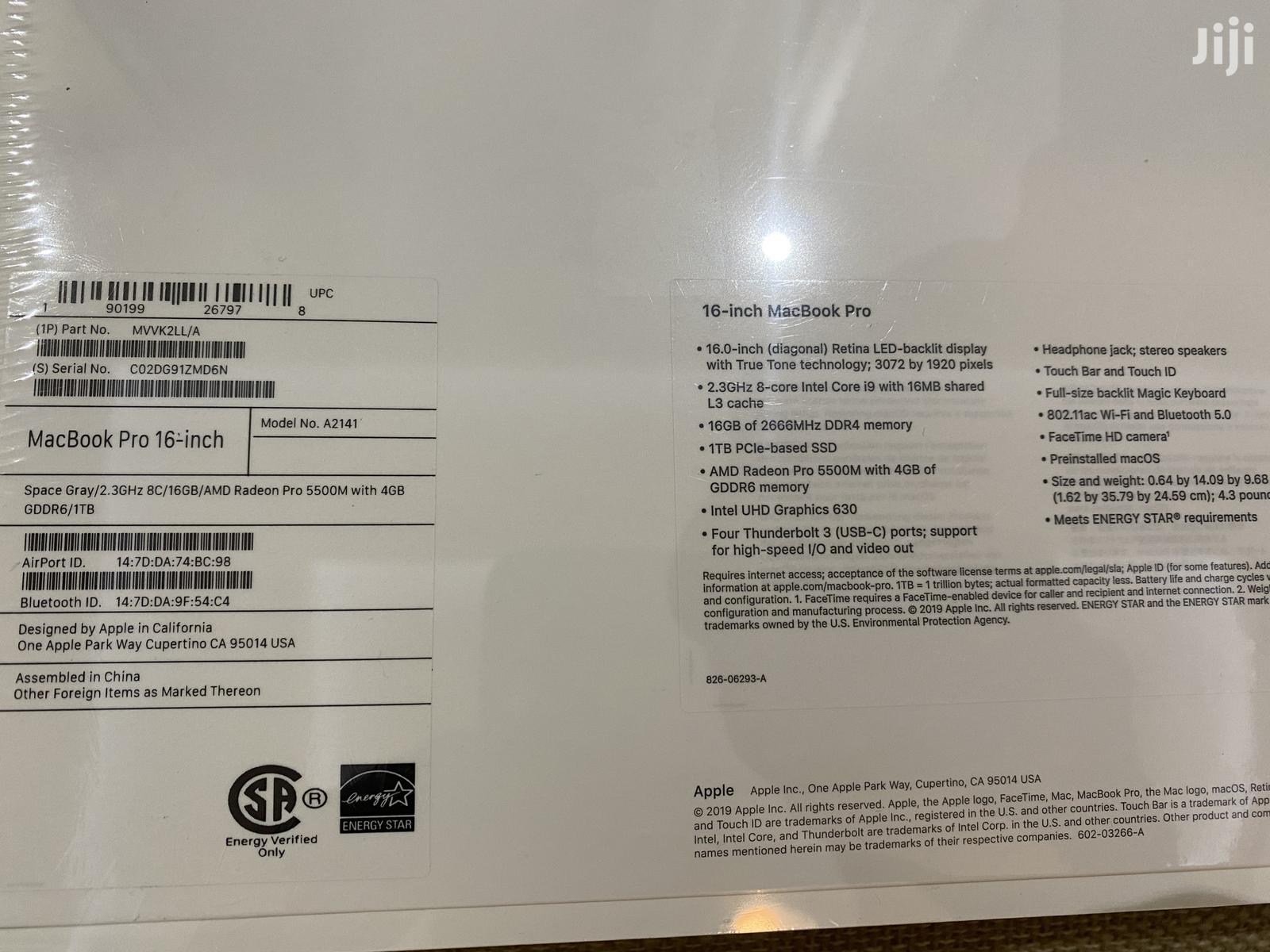 New Laptop Apple MacBook Pro 16GB Intel Core i9 SSD 1T   Laptops & Computers for sale in Dansoman, Greater Accra, Ghana
