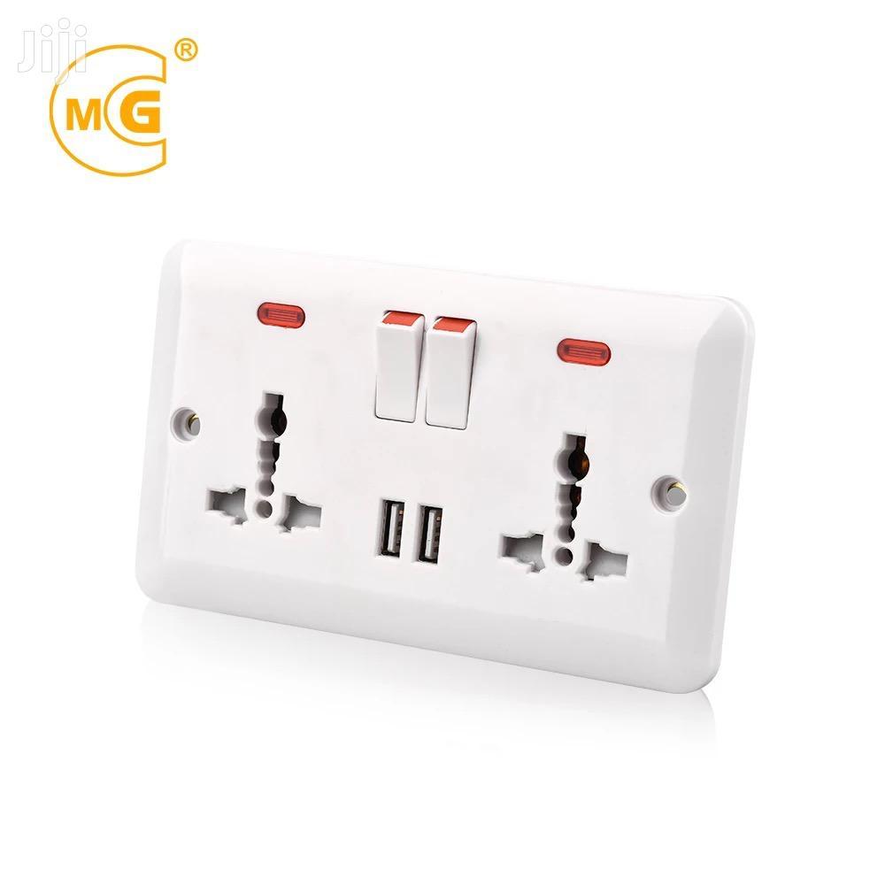 Archive: Youda Universal Power 2 Gang Twin USB Wall Plate Socket