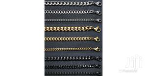 Shiny Cuban Link 3_7mm Matching Chains/Bracelets Set | Jewelry for sale in Greater Accra, Ga West Municipal