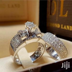 Rings 2pcs/Set Women Wedding Ring Sapphire Silver Jewelry | Wedding Wear & Accessories for sale in Greater Accra, Ga West Municipal