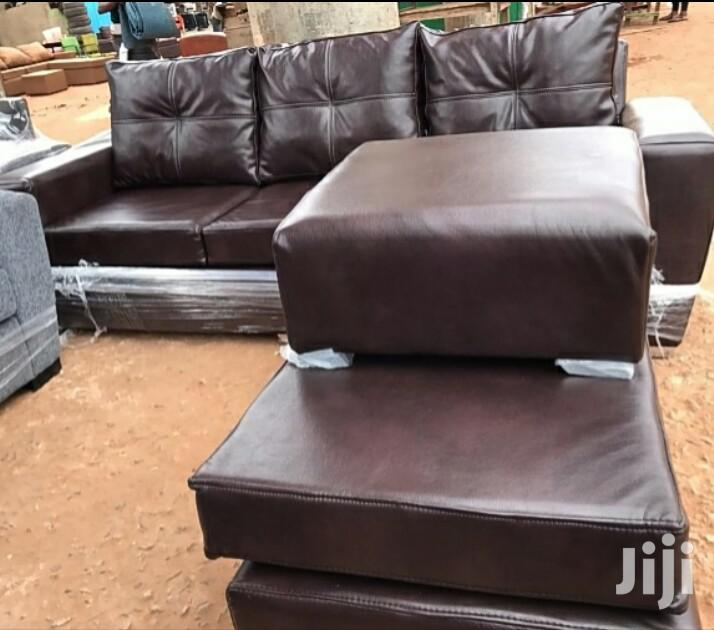 Archive: Leather L Shape Sofa